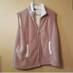 Tan Fleece Vest